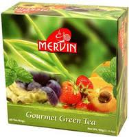 Чай Мервин Mervin черный фруктовое ассорти в пакетиках 60Х1,5 гр  Зеленый чай фруктовое ассорти 60Х1.5 гр