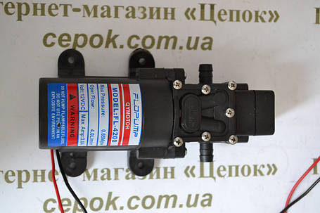 Насос 12В для обприскувача акумуляторного, фото 2