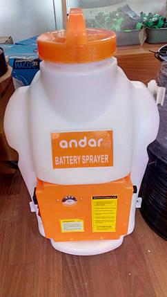 Обприскувач садовий акумуляторний ANDAR на 18 л, фото 2