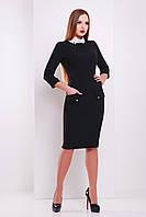 Классическое черное платье в деловом стиле сукня Андрия д/р