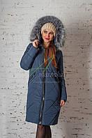 Стильное женское пальто сезона зима 2017-2018 - (модель кт-174)