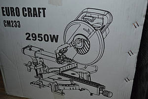 Пила торцювальна EURO CRAFT SM233, 2950W, фото 2