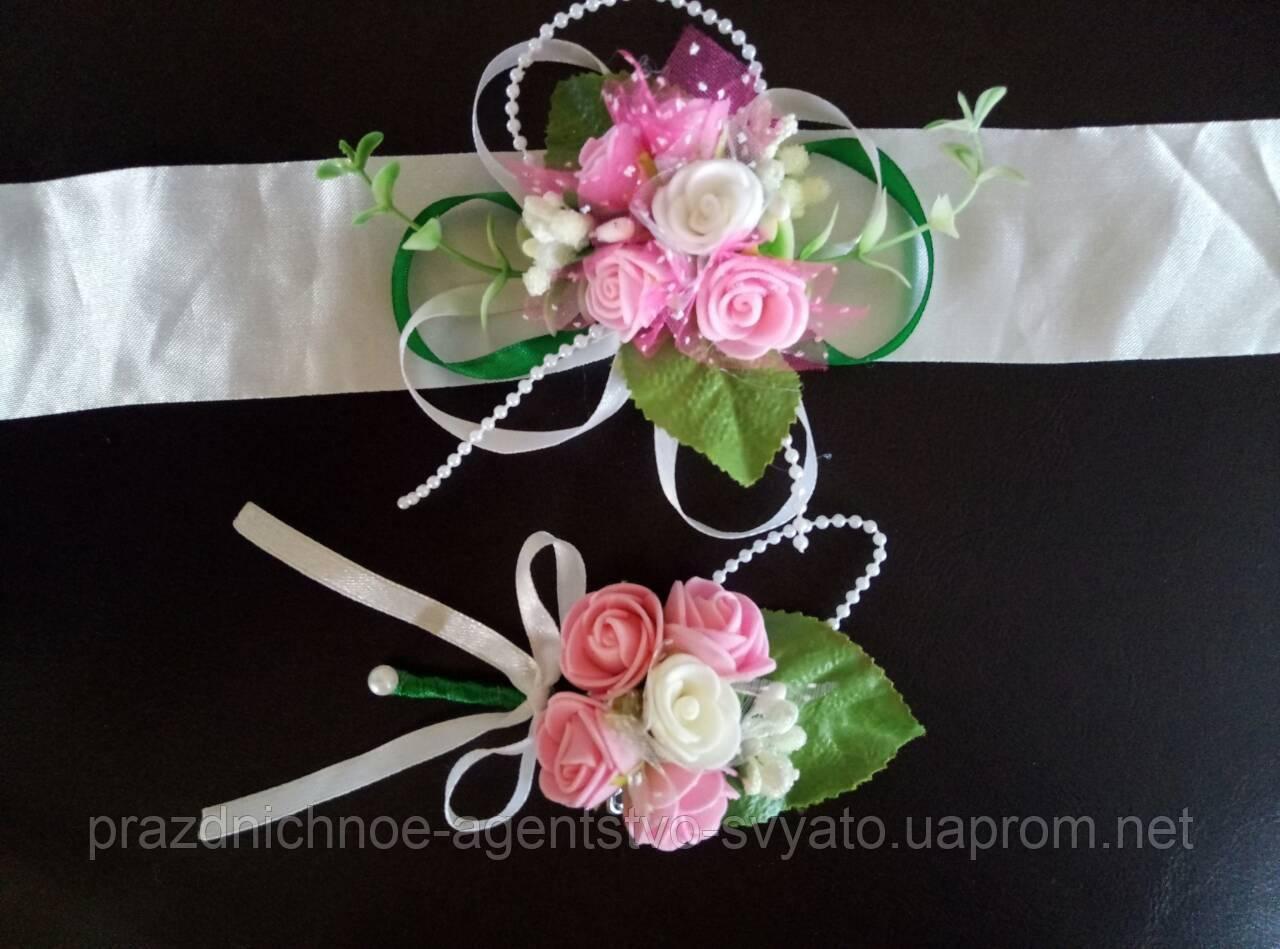 Свадебные бутоньерки для гостей