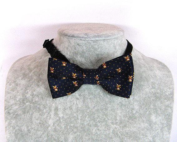 Бабочка галстук для мальчиков с рисунком