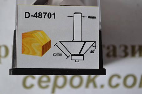 Фреза для зняття фасок з підшипником Мakita 41.3х20мм, хвостовик 8мм, фото 2