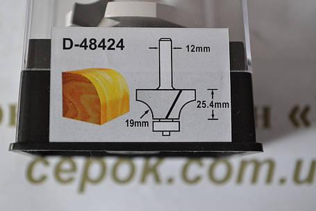 Фреза для круглих фасок з підшипником 50,8х25,4мм, хвостовик 12мм , фото 2