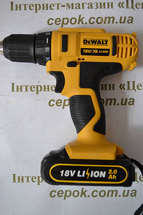 Шуруповерт акумуляторний DeWALT 18V, LI-ION, DCD776, фото 2