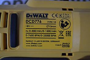 Шуруповерт акумуляторний DeWALT 18V, LI-ION, DCD776, фото 3