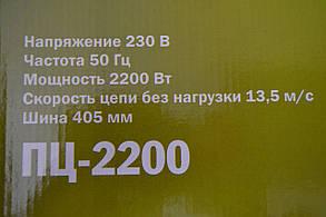 Пила ланцюгова електрична Eltos ПЦ-2200, фото 2