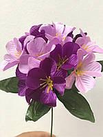 Искусственные цветы Гортензия зал-ка атласная