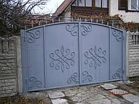 Ворота распашные, откатные во двор