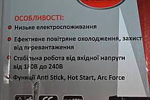 Зварювальний інвертор Сталь ММА-250, фото 2