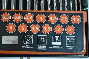 Набір свердел по металу Дніпро-М P6M5 13 шт, фото 2