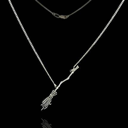 Серебряная подвеска Метла с цепочкой 500мм, фото 2
