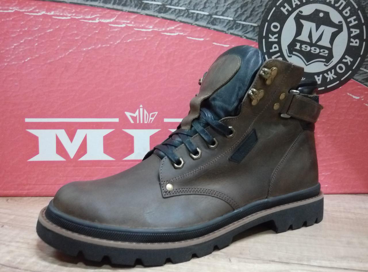 da48011af Мужские ботинки зимние МИДА 14013 из натуральной кожи - интернет-магазин  обуви в Киеве ТОП