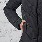 Модное зимнее пальто с мехом для женщин - (модель кт-194), фото 3