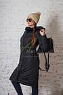 Модное зимнее пальто с мехом для женщин - (модель кт-194), фото 2