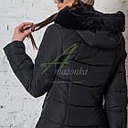 Модное зимнее пальто с мехом для женщин - (модель кт-194), фото 5