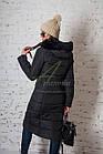 Модное зимнее пальто с мехом для женщин - (модель кт-194), фото 6