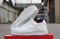 Кроссовки мужские Nike Air Force Зима. Кожа Мех 100% Белые