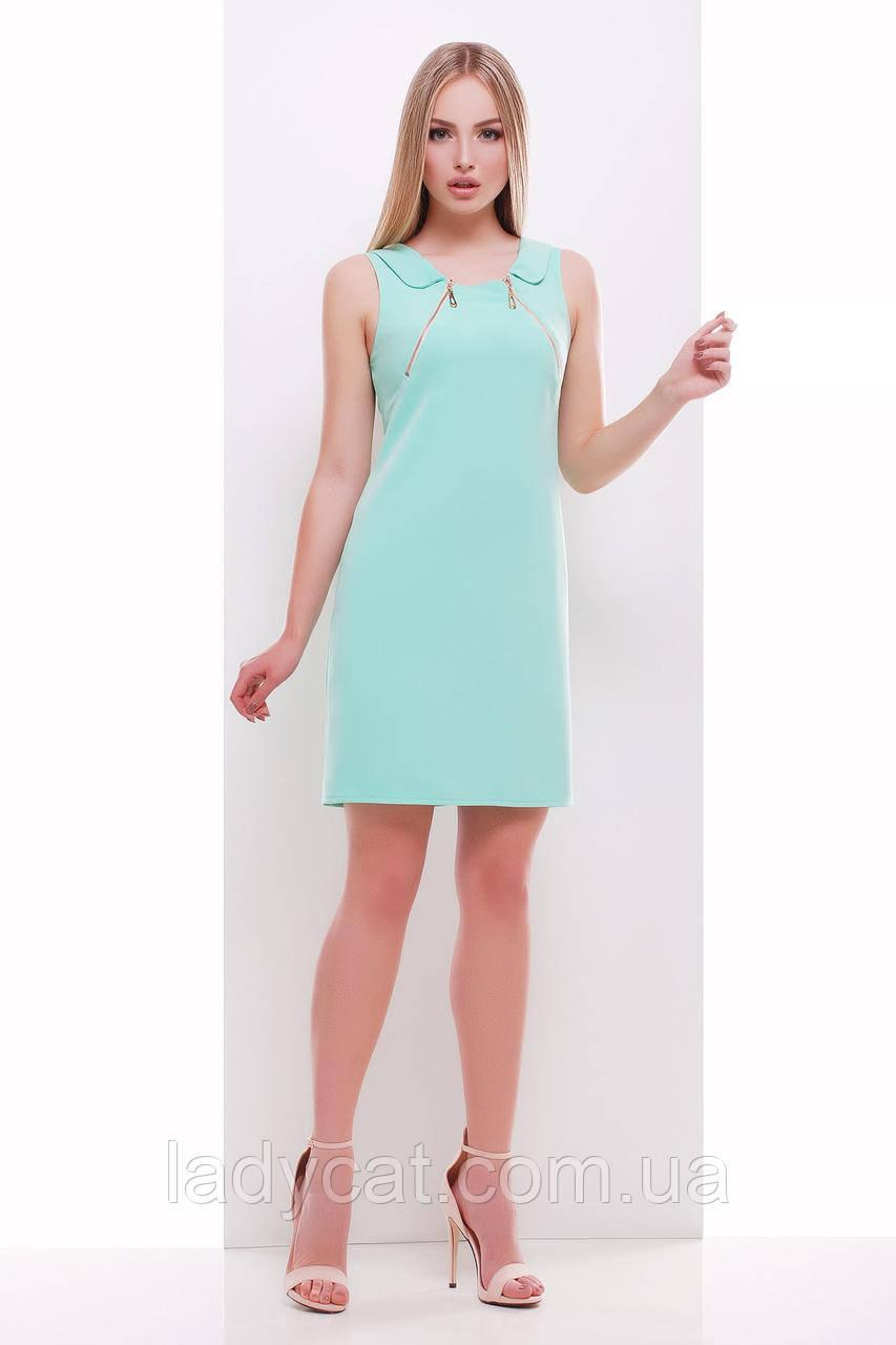 Элегантное салатовое платье футляр