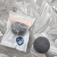 Косметическая губка-спонж для умывания с древесным углем MISSHA Soft Jelly Cleansing Puff Bamboo Charcoal