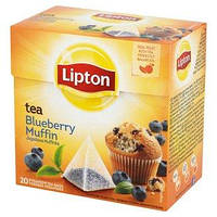 Чай черный со вкусом черничного кекса Lipton Black tea Blueberry Muffin 20 пакетиков - пирамидок 32