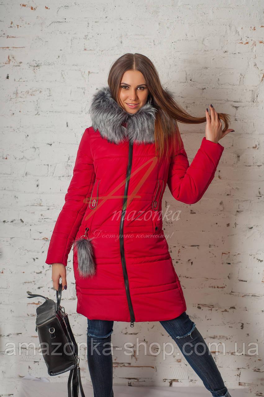 Зимнее женское пальто сезона 2017-2018 - (модель кт-187)