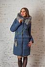 Зимнее женское пальто сезона 2017-2018 - (модель кт-187), фото 4