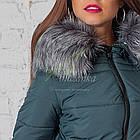 Зимнее женское пальто сезона 2017-2018 - (модель кт-187), фото 7