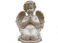 Скульптура Ангел молится №11 (мрамор кремовый) 25см.