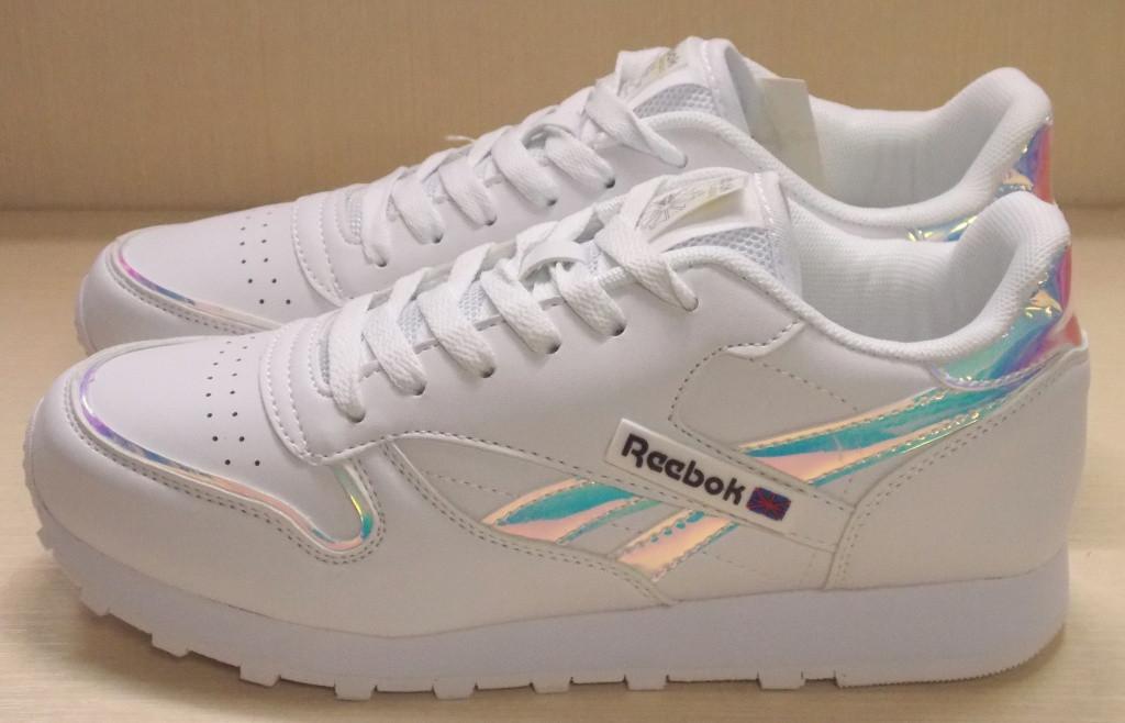 96cfbf753 Кроссовки Reebok, цвет Белый + перламутр Эко кожа - Интернет-магазин