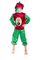 Детский Карнавальный костюм Бурячок, костюм свеклы, костюмы овощей, костюмы фруктов, дропшиппинг  украина