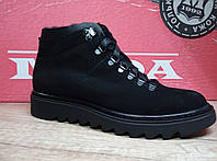 Мужские ботинки зимние МИДА 14075 из натурального нубука