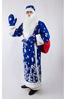 Костюм карнавальный Деда Мороза взрослый со снежинками, размер 52-54 (Украина) купить оптом в Одессе на 7 км