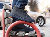 Мужские кожаные кеды кроссовки ботинки Forester  синие 40-45 размер на мембране, фото 1