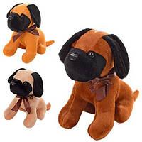 Мягкая игрушка Собачка МР1375 на прис., 19см,на присоске