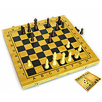 Нарды+шахматы из бамбука 29,5х29х2,5 см (24034)