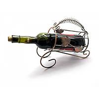 """Подставка для бутылки """"Лист"""" металл 22х25х10 см (25372)"""