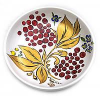 Тарелка белая, роспись d - 20см, h-3см (30429)