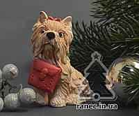 Сувенир керамическая Собачка Йорк