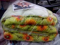 Двуспальное зимнее одеяло на открытой овчине