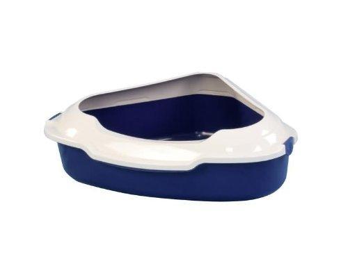 CROCI Угловой туалет с бортиком для кошек 55х42х16см (цвет в асортименте)