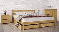 Кровать Лика без изножья с ящиками + плед