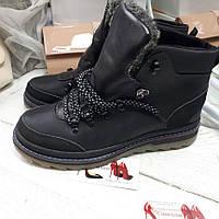 Зимние высокие ботинки мужские натуральная кожа и мех