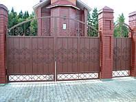 Ворота металлические въездные