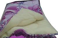 Полуторное зимнее одеяло на открытой овчине , фото 1
