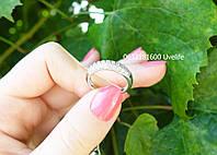 Серебряное кольцо с россыпью камней