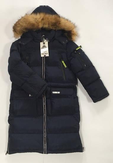 Зимняя удлиненная куртка на мальчика Польша размер 8-16