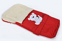 "Зимний конверт-трансформер ""Bepino"" на овчине в коляску и санки, фото 1"